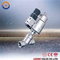进口带电磁阀气动角座阀价格/批发/厂家