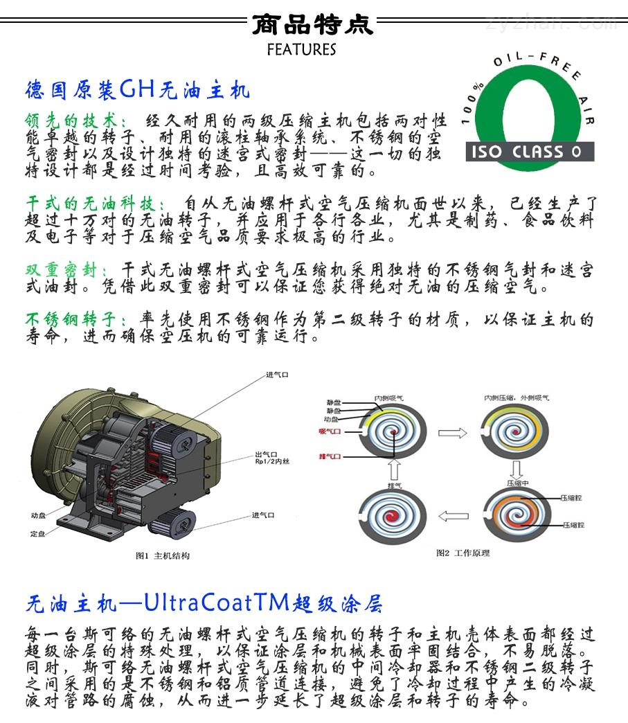 无油螺杆空压机特点优势