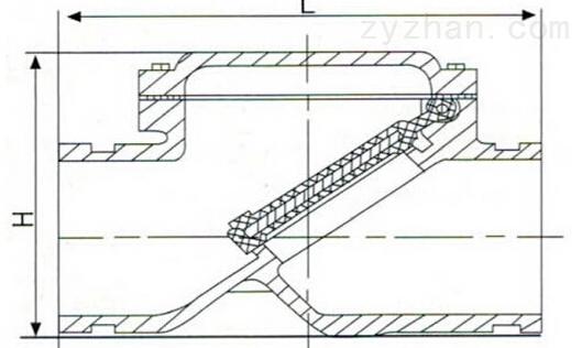 H84X沟槽止回阀结构图片