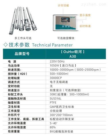 上海欧河乳化均质机|常用高剪切分散器