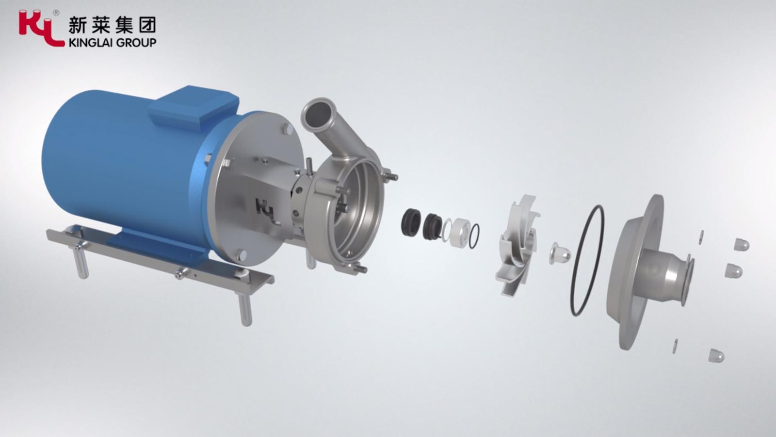 新莱集团卫生级高效离心泵动画展示